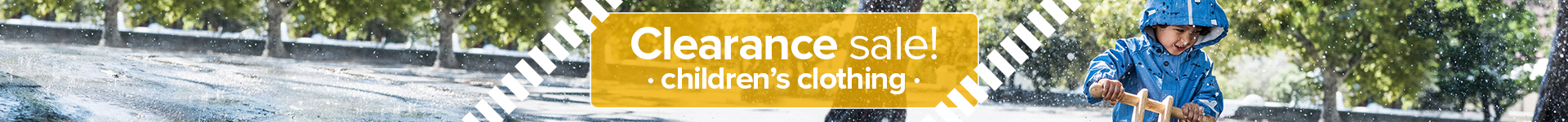 Clearance sale on children's clothing → save up to 50%