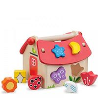 Leksaker för att sortera, stapla och plugga in