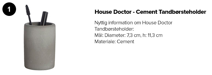 House Doctor - Cement Tandbørsteholder