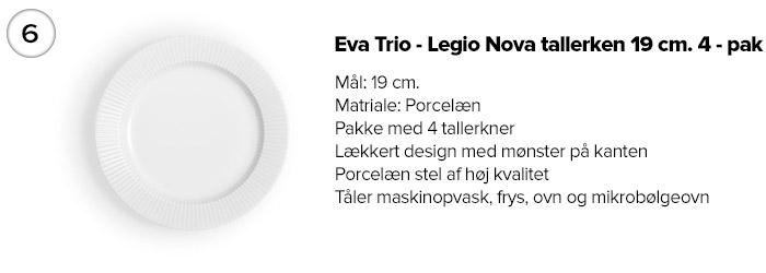 Eva Trio - Legio Nova Kagetallerken 19 cm. 4 - pak