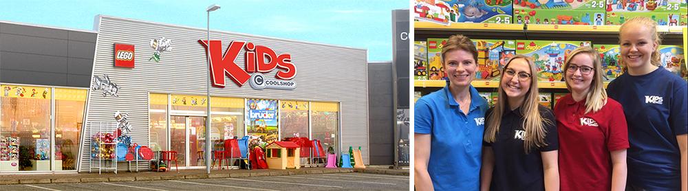 KiDS Coolshop se åbningstider og adresse
