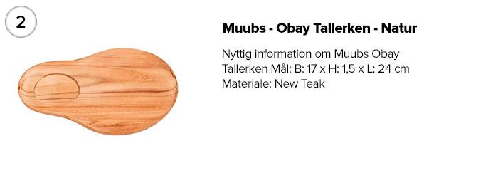 Muubs - Obay Tallerken - Natur