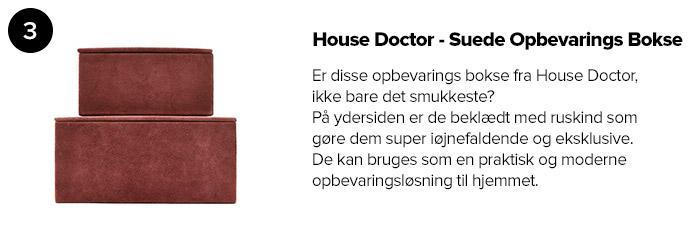 House Doctor - Suede Opbevarings Bokse Sæt á 2- Henna